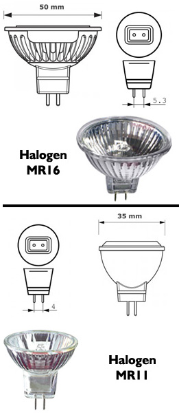 replace mr11 or mr16 halogen globes with led
