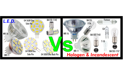 Compare LED to Halogen & Incandescent Bulbs - Globes
